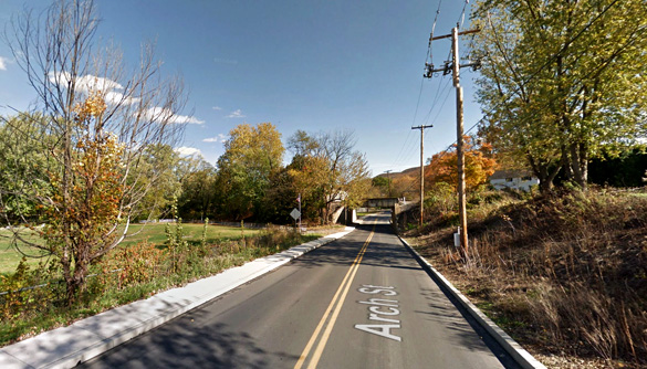 The lights on the object did not blink and were an orange-red color. Pictured: Lyoming County, Pennsylvania. (Credit: Google)