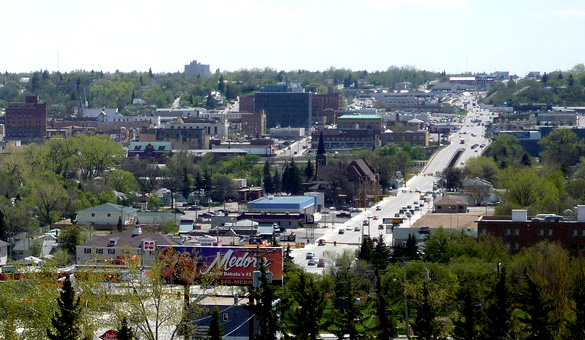 Downtown Minot, North Dakota. (Credit: Google)