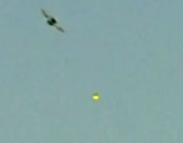 Cropped and enlarged photo taken from witness video. (Credit: MUFON)