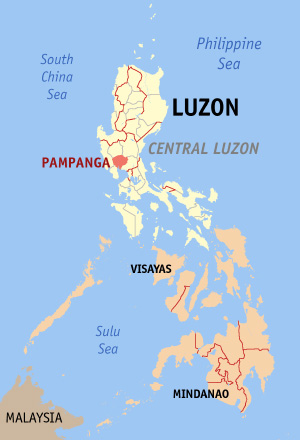 Philippines' map. (Credit: Wikimedia Commons)