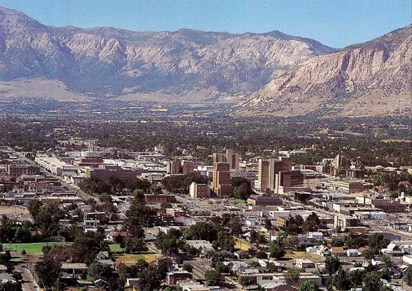 The witness says the objects can be seen frequently over Ogden, Utah, after 9 p.m. Pictured: Ogden, Utah. (Credit: Wikimedia Commons)