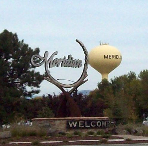 The witness was able to watch the object for nearly 30 minutes. Pictured: Meridian, ID. (Credit: Wikimedia Commons)