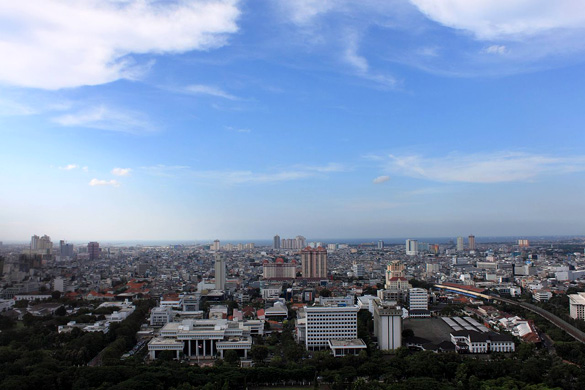 North Jakarta skyline. (Credit: Wikimedia Commons)