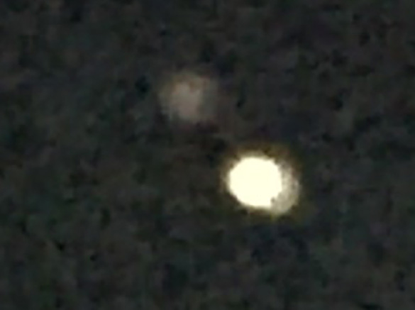 Cropped and enlarged still frame taken from the witness video. (Credit: MUFON)