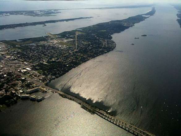 Aerial view of Merritt Island. (Credit: Wikimedia Commons)