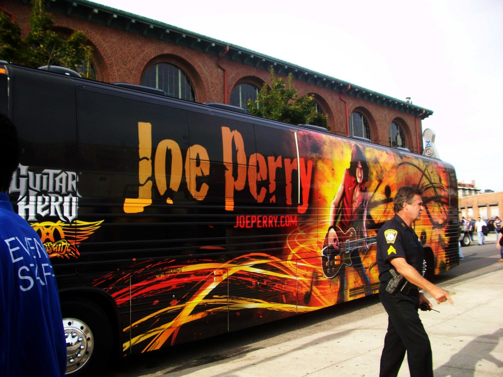 Joe Perry's tour bus. (Credit: JoePerry.com)