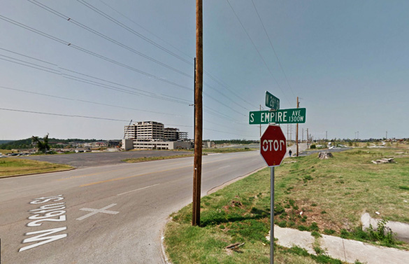 Three witnesses in Joplin, MO, watched a silent, boxy-shaped object 'larger than a house' move under 300 feet on July 8, 2014. Pictured: A street in Joplin. (Credit: Google)