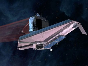 Artist&#039;s concept of the JWST. (Credit: NASA)