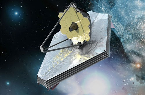 Artist's concept of the JWST. (Credit: ESA)