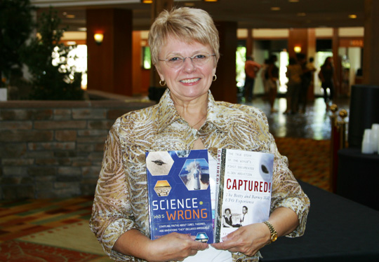 Kathllen Marden with her two books: Captured! and Science was Wrong. (image credit: Alejandro Rojas)