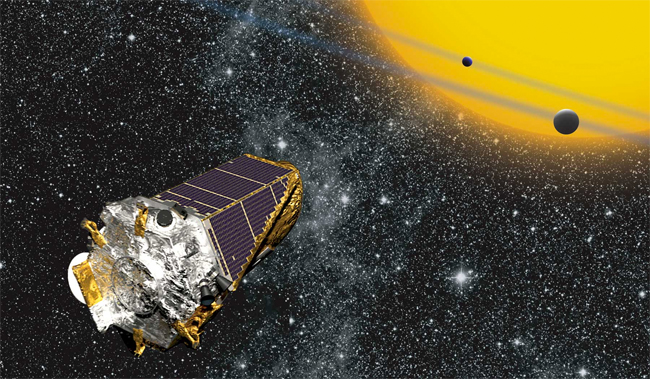 Artist's illustration of Kepler. (Credit: NASA Ames/ W Stenzel)