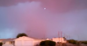 UFO over Lake Havasu City, AZ. (Credit: blazze2k8/YouTube)