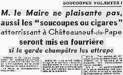 Article in the Le Haut Marnais October 29th, 1954.