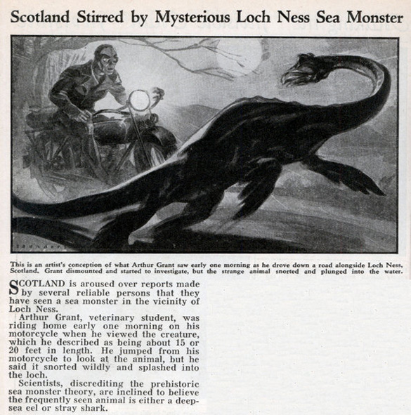 Scottish newspaper article from April 1934.