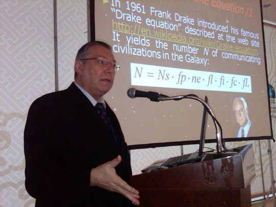 Dr. Claudio Maccone (image credit: SETI League)