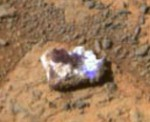 Close-up of the photographed 'rock.' (Credit: NASA/JPL-Caltech)