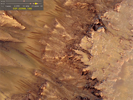 Image of the Martian surface (credit: NASA/JPL-Caltech/Univ. of Arizona)