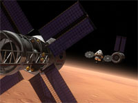 Artist's rendering of the Multi-Purpose Crew Vehicle (credit: NASA)
