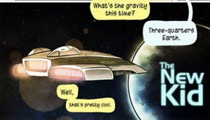 A scene from The New Kid comic strip (credit: Penny Arcade)