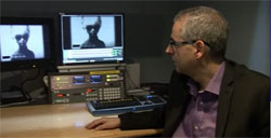Nick Pope examining the video (credit: ITN)