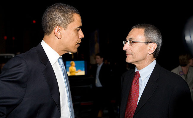 President Obama and John Podesta. (Credit: Center for American Progress Action Fund)