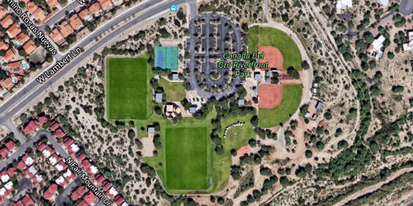 The park where drones were most likely launched. (Credit: Google Maps)