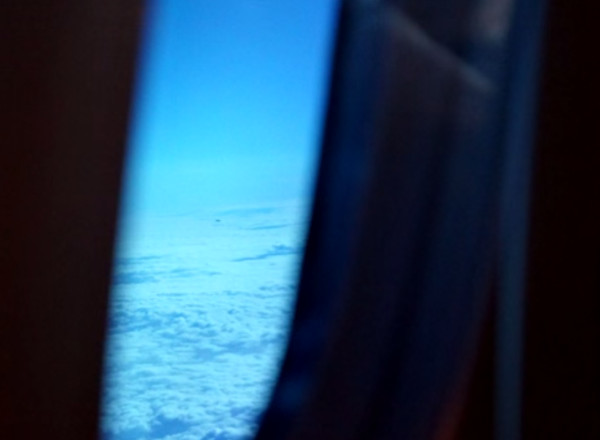 UFO allegedly photographed from an airplane window. (Credit: UFOvni2012/YouTube)