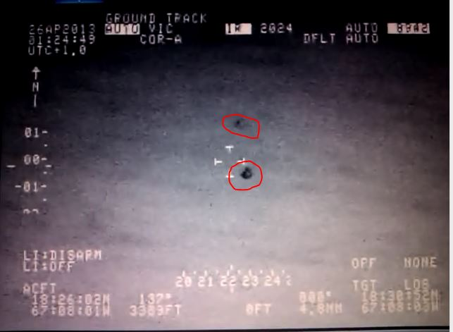 UFOs recorded by Homeland Security in Puerto Rico. (Credit: José Martínez E./YouTube)