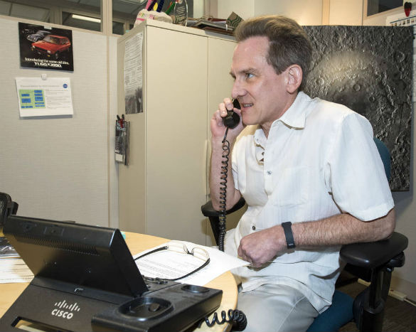 Fourth-grader Jack Davis got a special call Friday, Aug. 4, 2017, from NASA's Planetary Research Director, Jonathan Rall, congratulating Jack on his interest in serving as the agency's planetary protection officer. (Credit: NASA/Aubrey Gemignani)