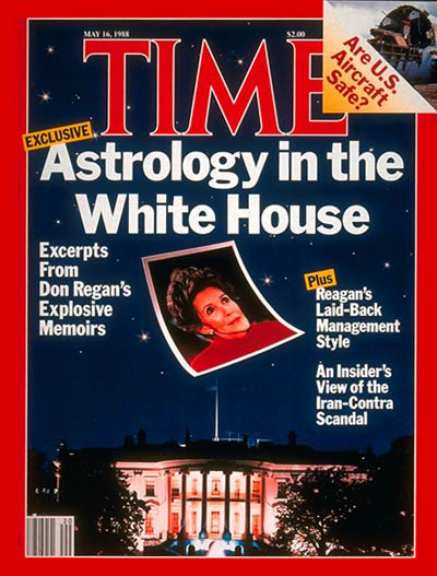 May 16, 1988 Time Magazine cover featuring the Reagans and Astrology
