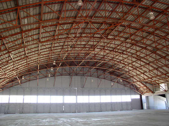 Hangar P-3 Building 84 interior at Roswell Army Airfield. (image credit: Dave Ruffino)