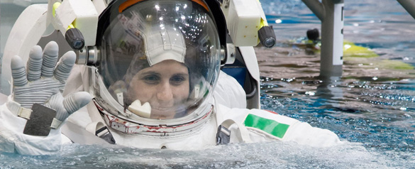 Italian ESA astronaut Samantha Cristoforetti. (Credit: EAS)