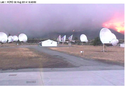 The fire endangers SETI's Allen Telescope Array. (Credit: SETI Institute)