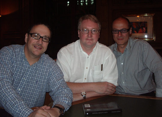 From left: Shoefield, Philip Mantle (Author), Ray Santilli