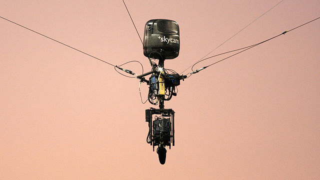 A skycam. (Credit: Despeaux/Wikimedia Commons)
