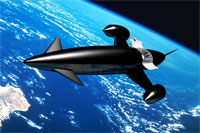Illustration of the Skylon rocketplane (credit: Reaction Engines/Adrian Mann)