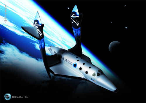 Illustration of SpaceShipTwo. (Credit: Virgin Galactic)