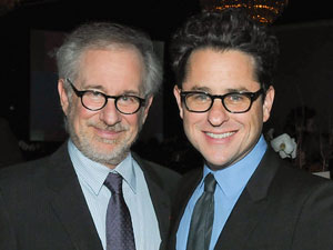 Steven Spielberg and J.J. Abrams (credit: Kovac/WireImage)