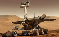 The Spirit rover (credit: NASA/JPL/Cornell University)