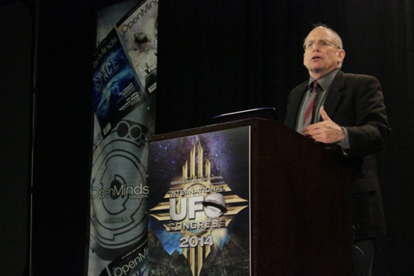 PRG director Stephen Bassett at the International UFO Congress. (Credit: Open Minds)