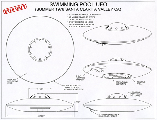 Diagram of UFO description by Michael Schratt