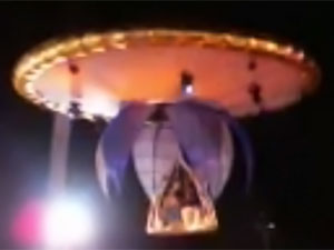 The bride and groom emerging from the UFO. (Credit: DWARKESH DIWAN/YouTube)
