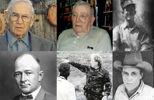 From uper left, clockwise: Glen Dennis, Frank Kaufman, Jim Ragsdale, Mac Brazil, Gerald Anderson, Barney Barnett.