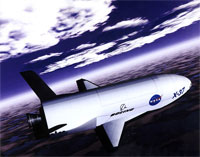 artist's conception of the X-37 from 1999 (credit: NASA)
