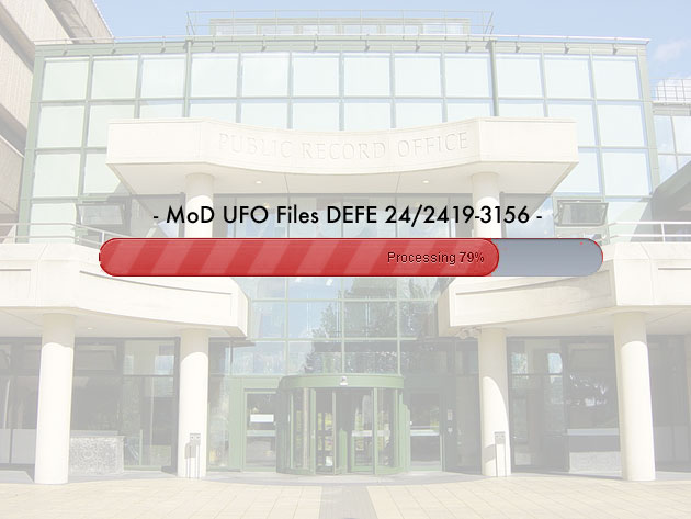 The public release of 18 secret UFO-files from the British Ministry of Defence via the National Archives is still in progress (Ilu.). (Credit: grewi.de)