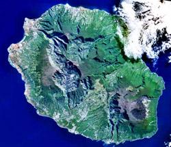 Satellite photo of Reunion Island. (image credit: Wikimedia Commons)