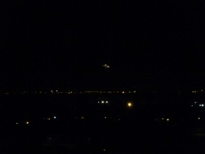 First UFO photo taken over Rivoli. Click to enlarge. (Credit: CUFOM)