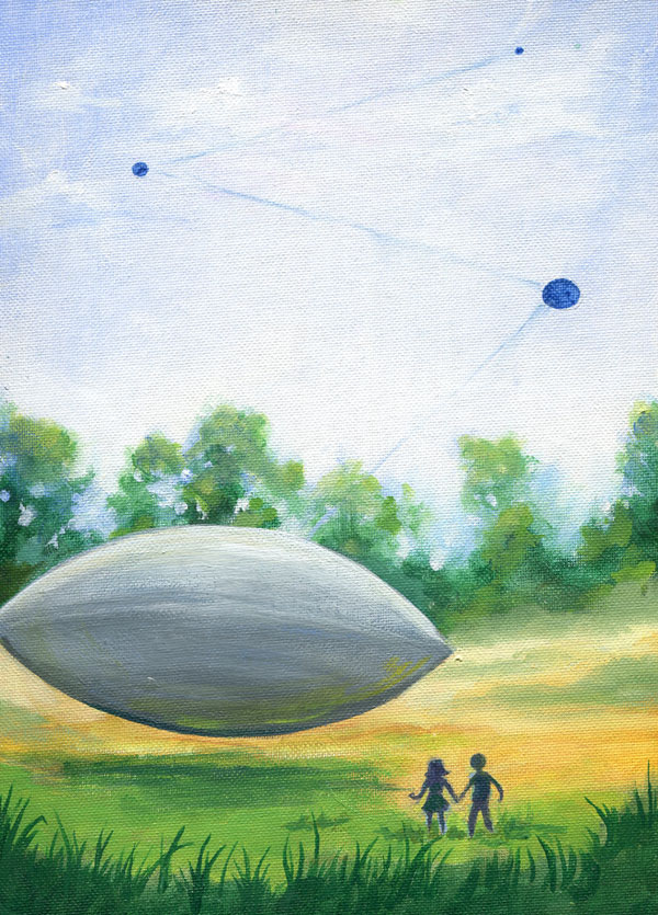 The witness provided this illustration of the event from 1966. (Credit: MUFON)