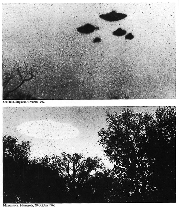 Pictures added to CIA UFO article without much explanation. (Credit: CIA)
