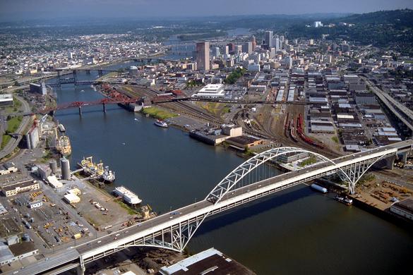 Portland, Oregon. (Credit: Bob Heims/U.S. Army Corps of Engineers)